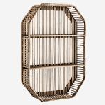étagère rectangulaire en bambou