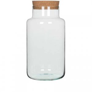 Bocal Chela  verre transparent