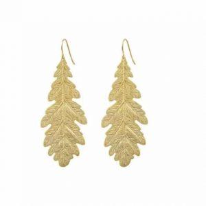Boucles d'oreilles feuilles de chêne BY ZIA