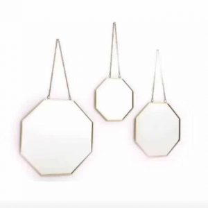 Ensemble de 3 miroirs suspendus géométriques