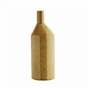 Vase bouteille en grès ocre