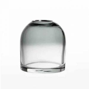 Vase en verre gris