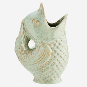 Vase poisson en grès