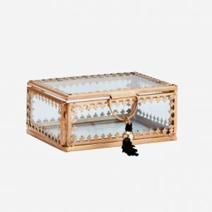 Boîte en verre avec pompon