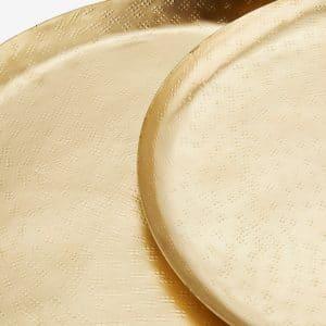 Plateaux ovales en fer